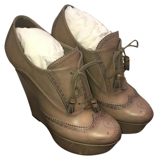 Gucci Taupe Wedges Size US 8.5 Regular (M, B) Gucci Taupe Wedges Size US 8.5 Regular (M, B) Image 1