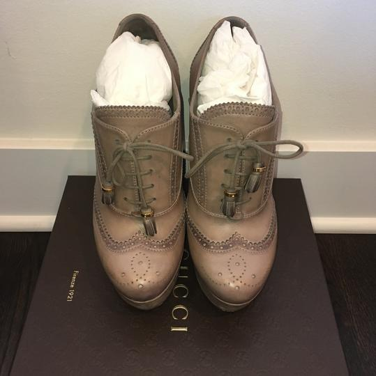 Gucci Taupe Wedges Image 1