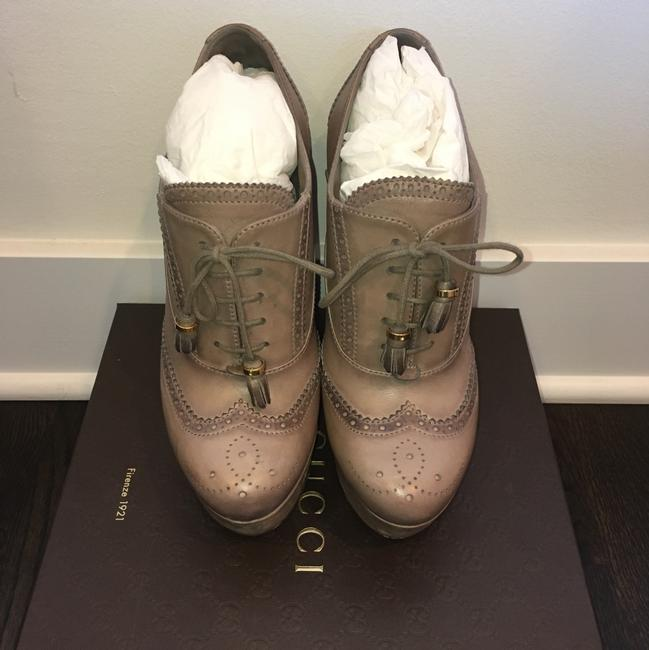 Gucci Taupe Wedges Size US 8.5 Regular (M, B) Gucci Taupe Wedges Size US 8.5 Regular (M, B) Image 2