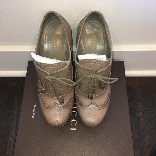 Gucci Taupe Wedges Image 2