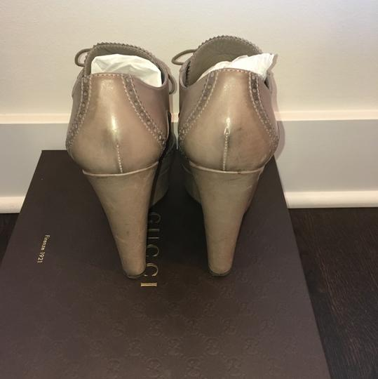 Gucci Taupe Wedges Image 3