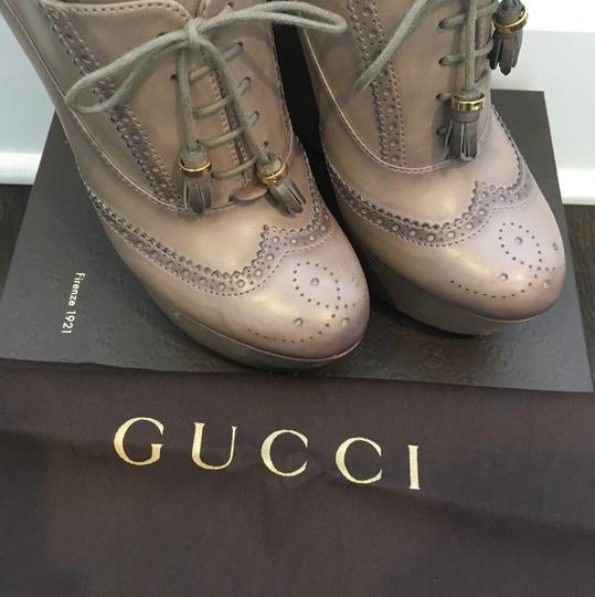 Gucci Taupe Wedges Image 5
