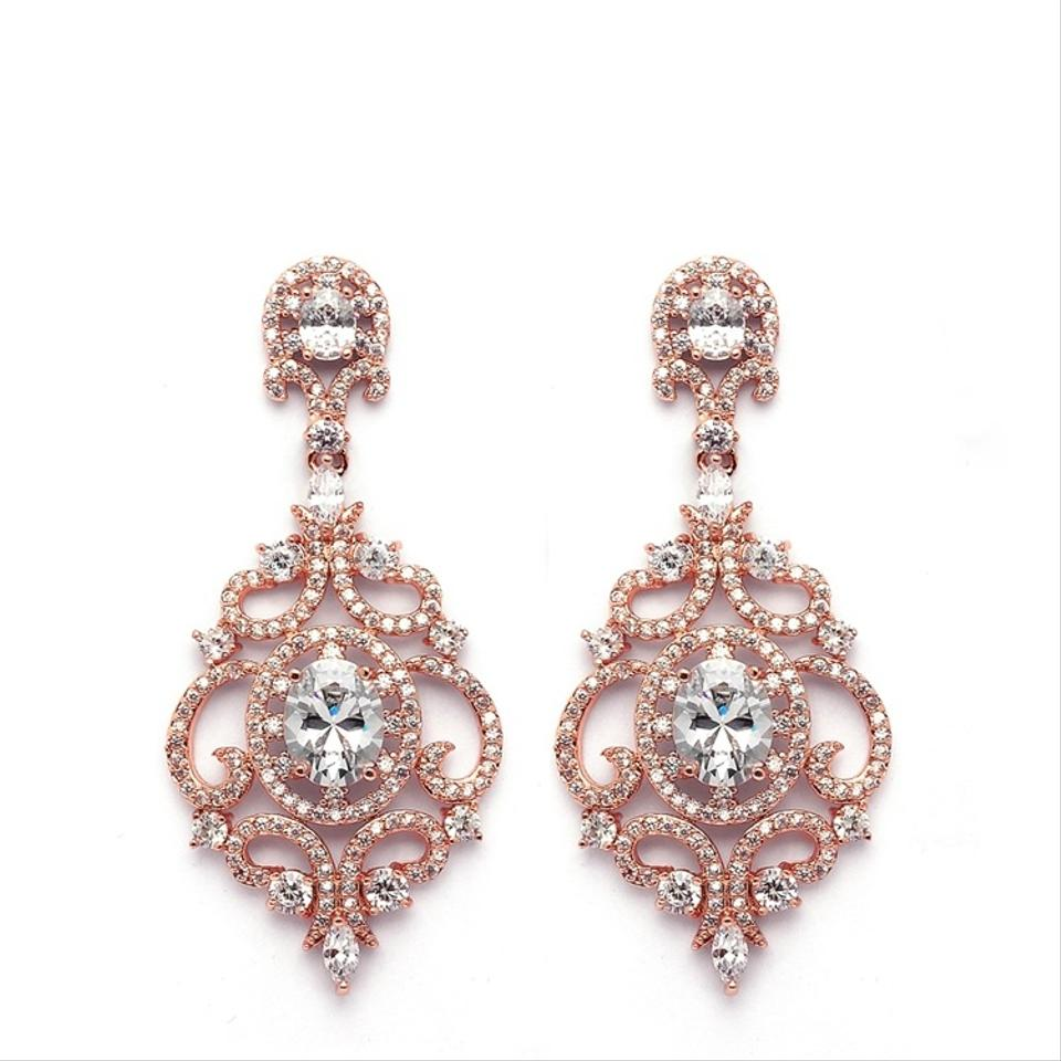 Mariell rose gold 14k plated cubic zirconia chandelier earrings mariell rose gold 14k plated cubic zirconia chandelier earrings arubaitofo Choice Image