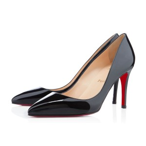 Christian Louboutin Pigalle 85 Louboutin Pigalle 85 Patent Leather Pointed Toe Black Pumps