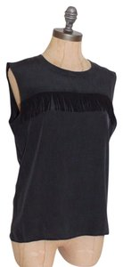 Townsen Fringe Matte Fade Top BLACK