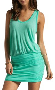 Soft short dress Neon jade on Tradesy