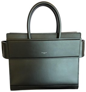Givenchy Leather Luxury Structured Satchel in Black