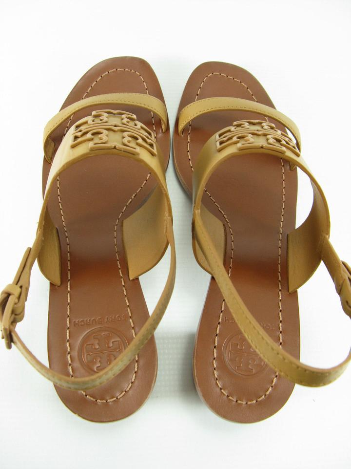9407094a348 Tory Burch Blonde Tan Powder Coated Melinda Leather with Gift Receipt  Sandals Size US 10.5 Regular (M