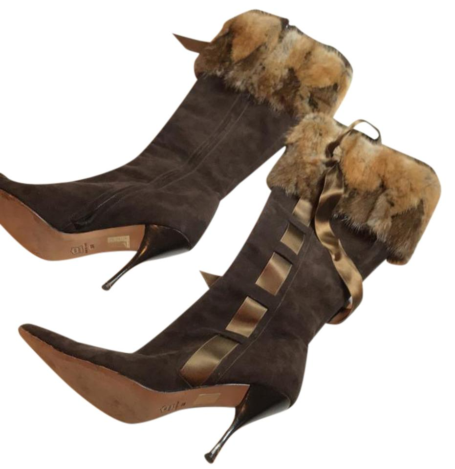 Brown Boots/Booties Fur Boots/Booties Brown 2d28f4