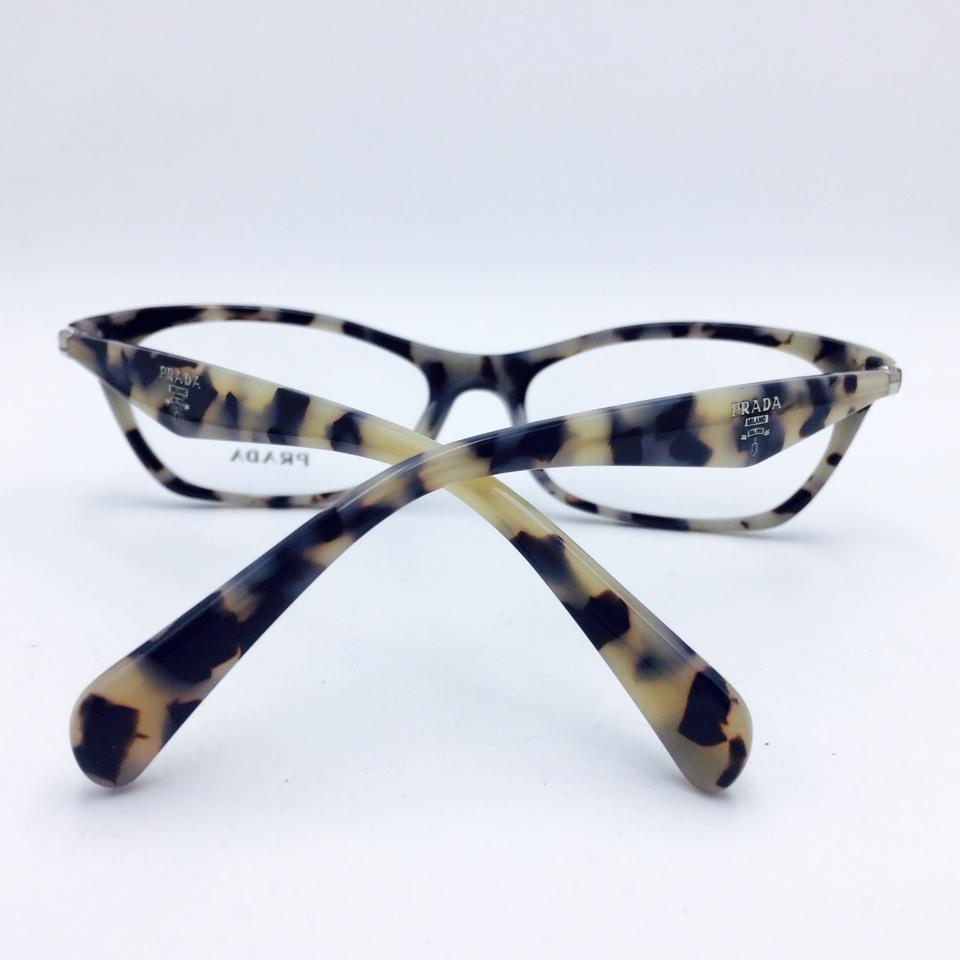 7658020b39 Prada Retro Cat Eye Swing Black Havana Eyeglasses Frame RX PR 15P Image 8.  123456789