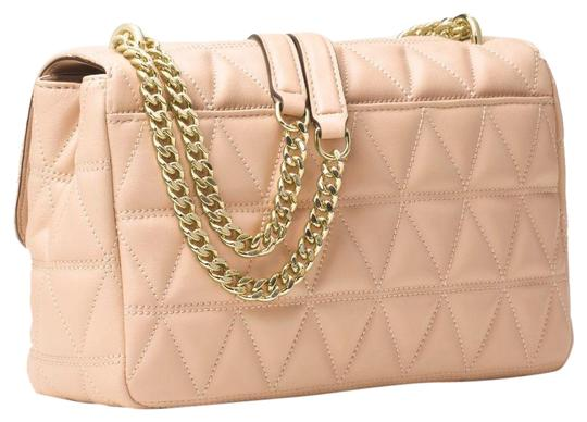 Michael Kors Quilted Lambskin Embellished Large Sloan Sloan Flroal Cross Body Bag Image 2