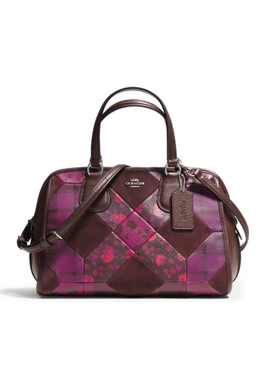 Coach Leather Floral Satchel in Patchwork Image 0