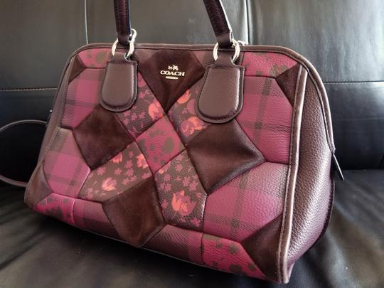 Coach Leather Floral Satchel in Patchwork Image 3