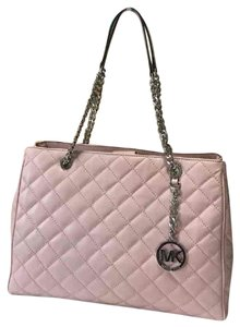 f3a4aee0d777 Added to Shopping Bag. Michael Kors Susannah Leather Tote in Blossom Pink. Michael  Kors Mk Susannah Large ...