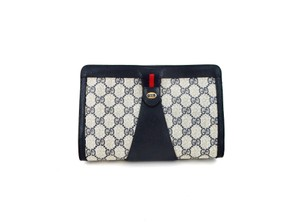 Gucci Monogram Cosmetics Blue Clutch