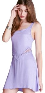 Stylestalker short dress Lavender Sleeveless Laces Cut-out on Tradesy