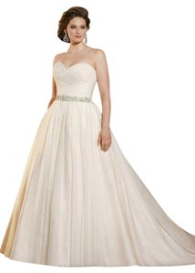 Mori Lee Ivory Tulle 3182 Wedding Dress Size 22 (Plus 2x)