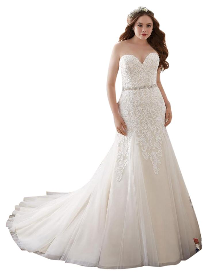 Mori Lee Ivory Lace And Tulle 3215 Wedding Dress Size 24 Plus 2x