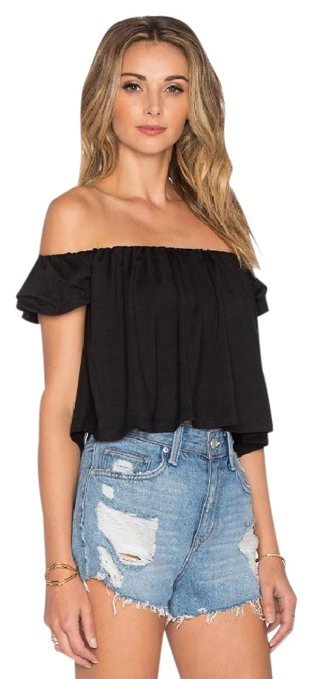 fa61cfface176 Susana Monaco Off Shoulder Black Sweater - Tradesy