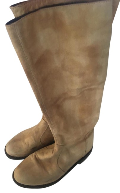 Item - Light Brown Tall Leather Boots/Booties Size US 7 Regular (M, B)