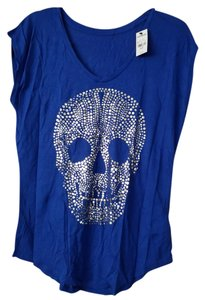 Express Skull Modal T Shirt Blue