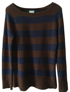 C&C California Sweater Pullover Stripe Striped Cashmere Blue Brown Navy Tunic