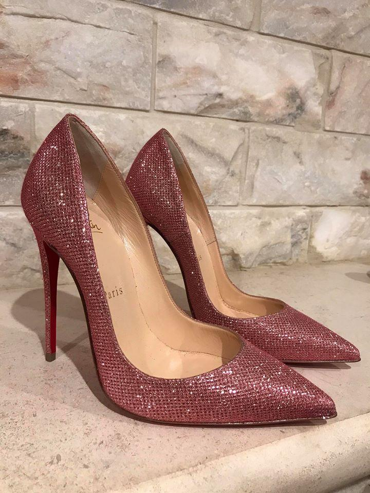huge selection of 46956 bdb8b Christian Louboutin Pink So Kate 120 Poudre Glitter Tisse Heel 40 Pumps  Size US 10 Regular (M, B)