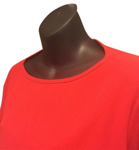 Ellen Tracy Triacetate Polyester Accessory Top Red