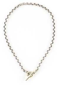 Barry Kieselstein-Cord Barry Kieselstein-Cord silver & gold chain link necklace w/ toggle