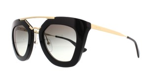 Prada NEW Cinema Sunglasses SPR 09Q c. 1AB0A7 Black & Gold w/ Gradient lens