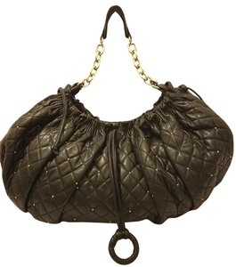 BCBGMAXAZRIA Refurbished Leather Extra-large Handbag Hobo Bag