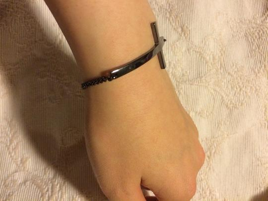 H&M Gunmetal Cross Bracelet