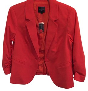 The Limited Pet And Smoke Free Ruched Red Orange Blazer