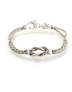 Tiffany & Co. Tiffany & Co. Sterling Double Rope Knot Bracelet