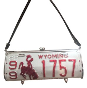 Little Earth License Plate Metal Metal Purse Wyoming Clutch