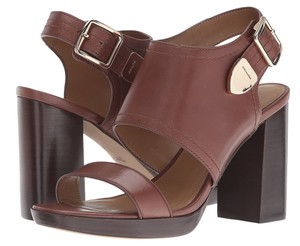 Coach Leather Platform Saddle Sandals