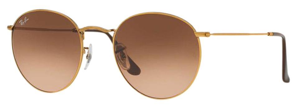 5414064f9e87 Ray-Ban Gold Frame with Rose Gradient Lenses Round Metal Rb3447 ...