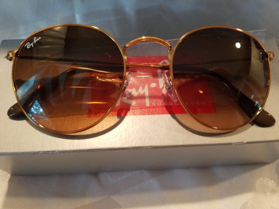 cc1a5d06846b Ray-Ban Gold Frame with Rose Gradient Lenses Round Metal Rb3447 Shiny Light  Bronze Pink Brown Sunglasses - Tradesy