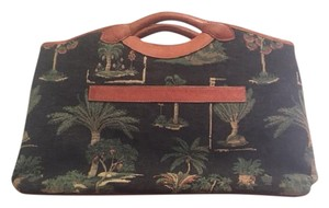 Tommy Bahama Tapestry Satchel in Gray, Green