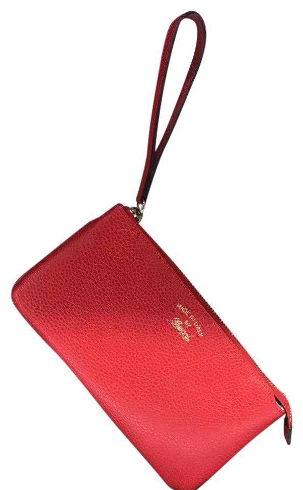 a7a8c67901d Gucci Swing Leather Red Wristlet - Tradesy