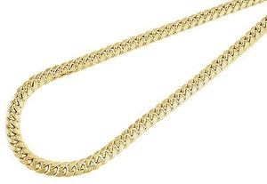 Other 10k Yellow Gold Semi Hollow Mm Miami Cuban Link Necklace Chain - Inch