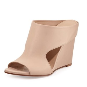 Vince Kaya Wedge Natural Nude Mules
