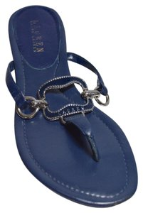 Ralph Lauren Thong Navy Blue Sandals