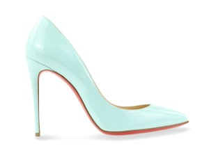 Christian Louboutin Patent Leather Pointed Toe blue Pumps