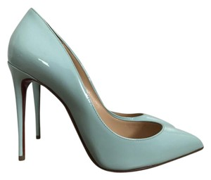 Christian Louboutin Patent Leather Pointed Toe Light Tiffany Blue Pumps