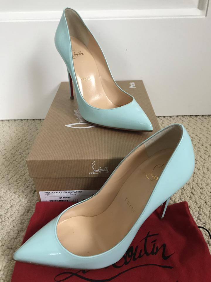 926c1320974 Christian Louboutin Patent Leather Pointed Toe Light Tiffany Blue Pumps  Image 11. 123456789101112