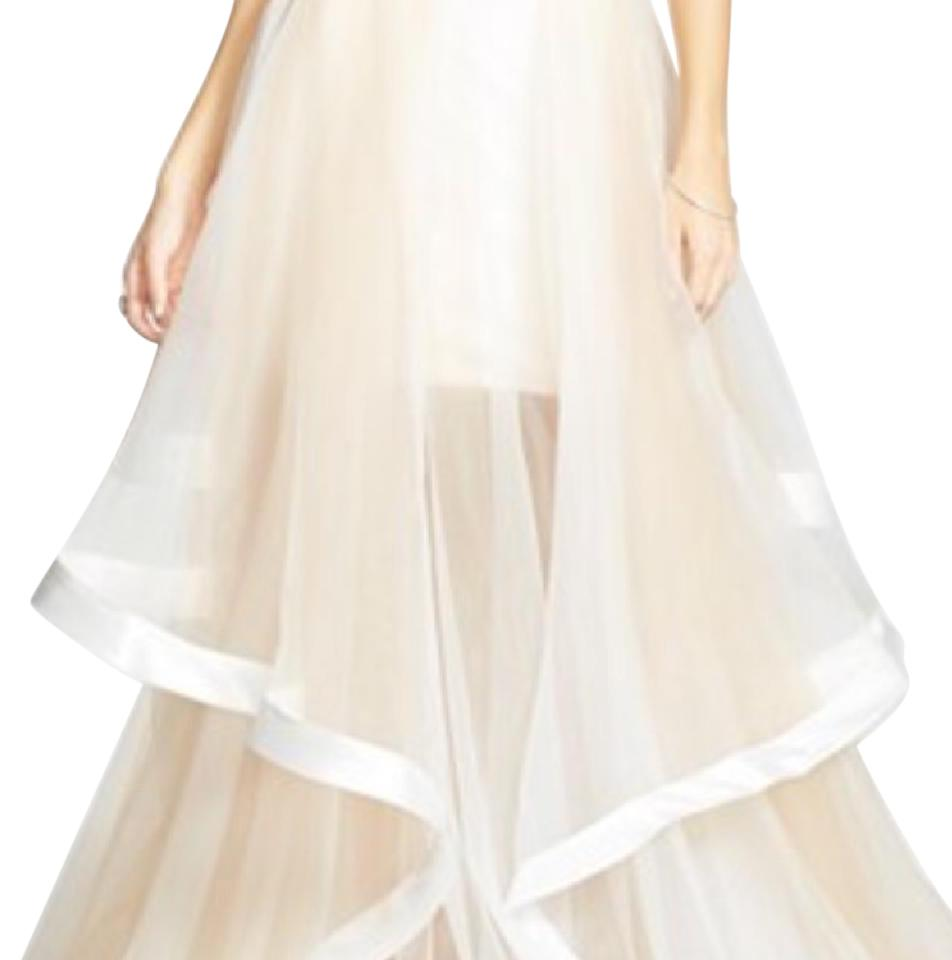 Terani Couture White with Nude Layers Organza Ball Gown Skirt Size 2 ...