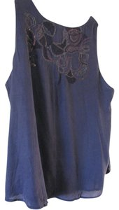 Coldwater Creek Top navy blue
