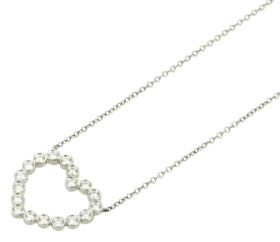 Tiffany co platinum 15342 diamond open heart pendant chain 15342 platinum diamond open heart pendant chain necklace mozeypictures Image collections