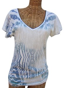 Vanilla Sugar Petite V-neck Studded Netting T Shirt Multi